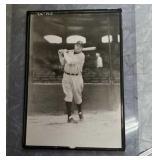 Babe Ruth 5 x 7  black and white