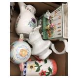 Box of pitchers and teapots