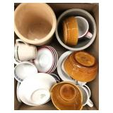 Box of pots, dishes