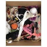 Box of yarn, ribbon