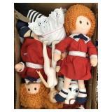 Box of Annie dolls, raggedy ann