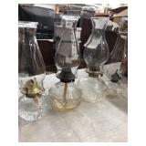 Lot of 4 oil lamps