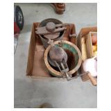 Box of vintage ice cream makers