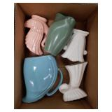 Box of pottery, some bauer