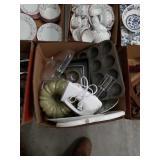 Box of baking supplies