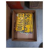 Box of Pennsylvania license plates