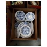 Box of dishes blue onion