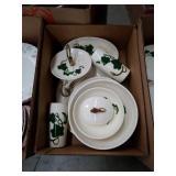 Box of metlox dishes ivy pattern