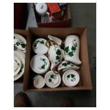 Box of metlox ivy pattern dishes
