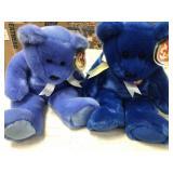 2 beanie baby teddy bears