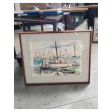 Water color painting/ fishing boats