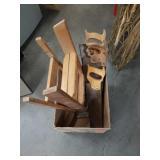 Box of saws etc