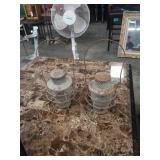 Pr of antique lanterns