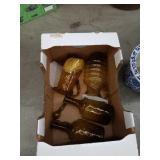 Box of color glass ware