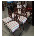 6 antique  Shield back mahogany dining chairs
