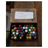 Box of marbles For  Hop Ching checkers