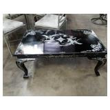 Mother of pearl inlay Asian coffee table