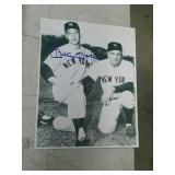 Mickey Mantle autographed 8 by 10 photo