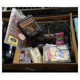 Box of Sega Genesis game console and games
