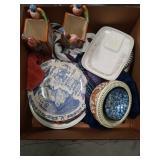 Box of miscellaneous plates, Italian