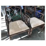 Pair of bamboo style chairs