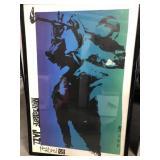 Pencil signed framed Monterey jazz festival poster