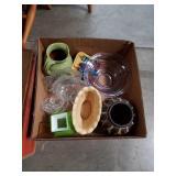 Box of ceramics and glass