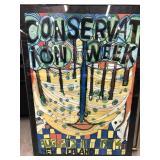 Conservation week 1974 New Zealand framed art
