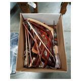 Box of wooden hangers