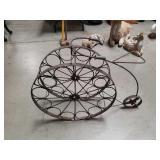 Metal bicycle wine rack
