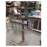 Italian carved wood floor lamp base