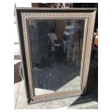 Engraved wall mirror