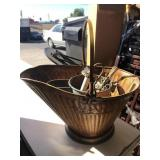 Tin bucket with misc