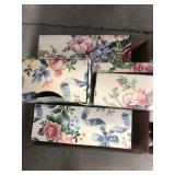 Box of floral storage bins