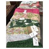 9 sheets of tablecloth, material including