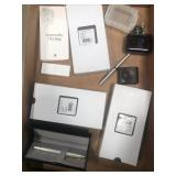 Box of cross pens etc