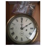 Ship brass wall clock
