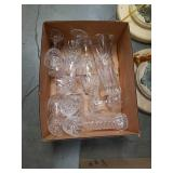 Box of Crystal goblets and vases