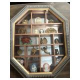 Small display case with cameos