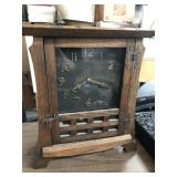 Wooden clock arts and crafts style