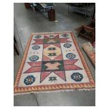 Ranch style handmade rug