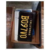 Box of license plates