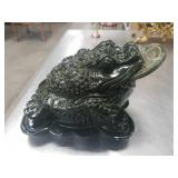 Green stone frog