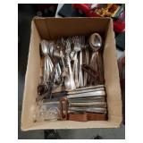Box of Rogers flatware
