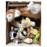 Box of cat toys
