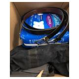 Box of bladder control underwear and belts