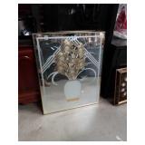 Floral vase mirror
