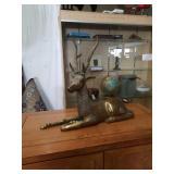 Brass dear figurine