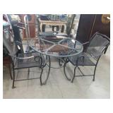 Brown Jordan patio table and 2 chairs