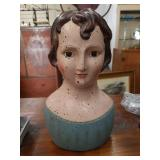 Early Americana decorative bust